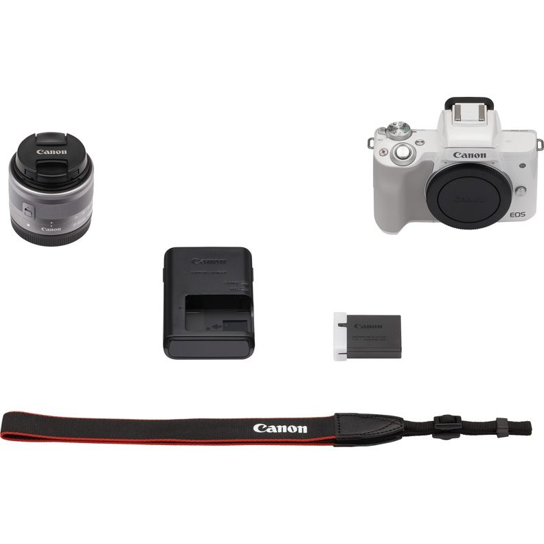 Фотоаппарат Canon EOS M50 kit 15-45 IS STM White