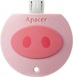 Apacer, flash drive, 32Gb, OTG AH171 Pink Pig, USB 2.0